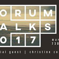 Christine Conway  Forum Talk