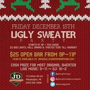 Ugly Sweater Party at JD McGillicuddys Manayunk