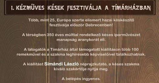 I. Kzmves Ksek Fesztivlja Debrecenben