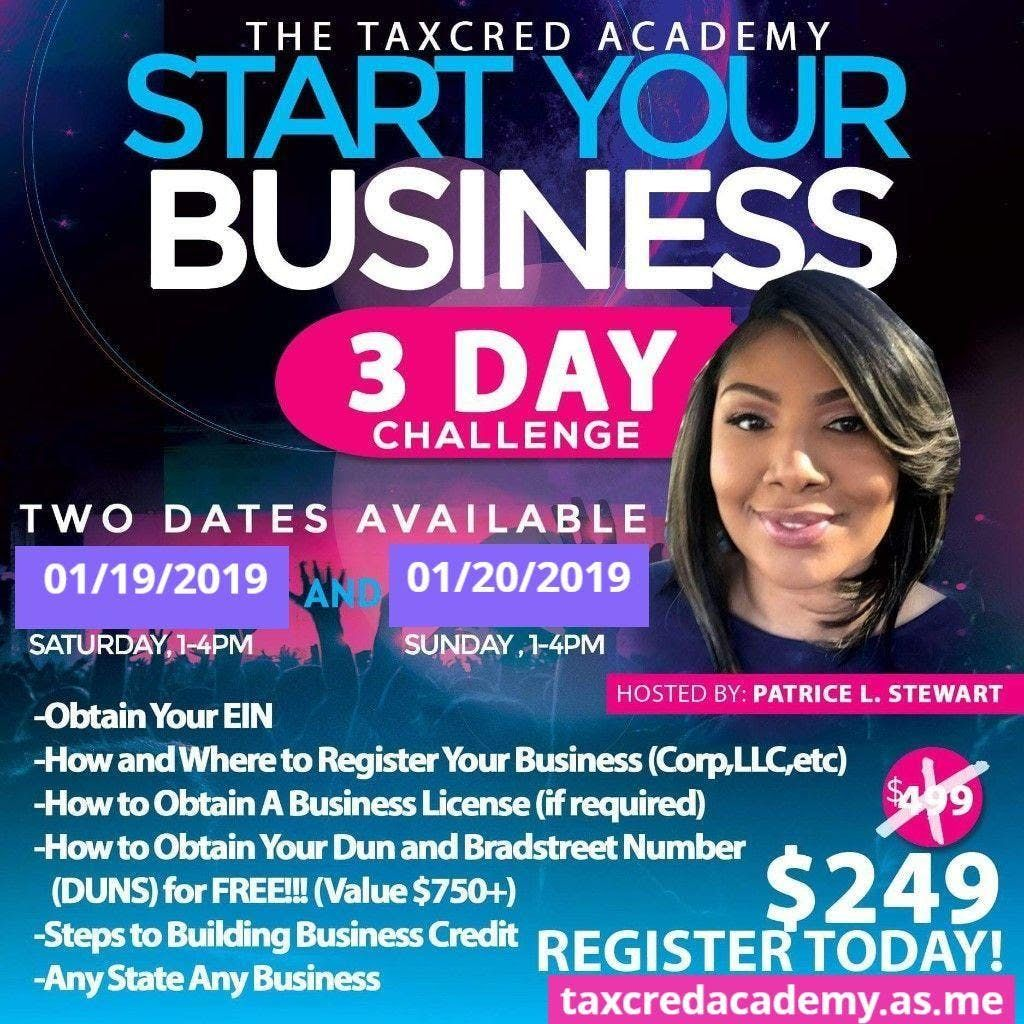 3 DAY START YOUR BUSINESS CHALLENGE