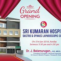 Grand Opening SRIKUMARAN HOSPITAL