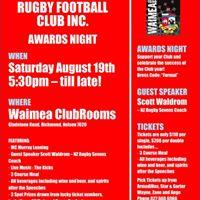 "Waimea Old Boys Rugby Football Club Inc. &quotAwards Night 2017"""