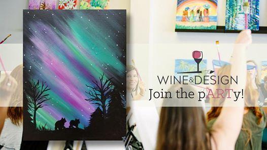 Paint Sip Northern Lights Love At Wine Design Stafford Va