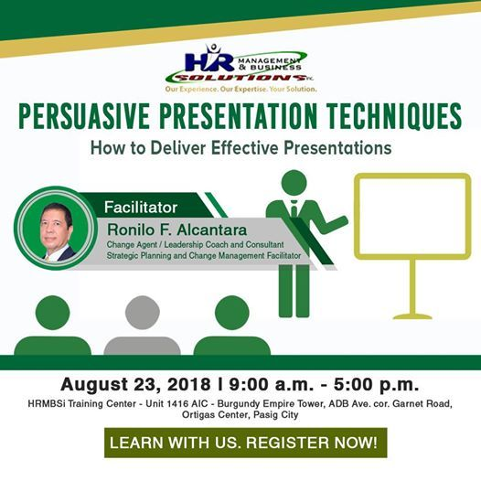 Persuasive Presentation Techniques at HRManagement and Business