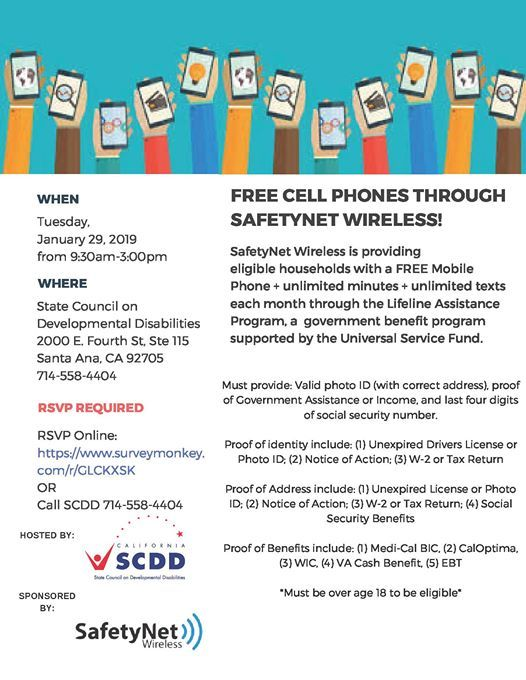 Free Cell Phones through SafetyNet Wireless! at 2000 East Fourth