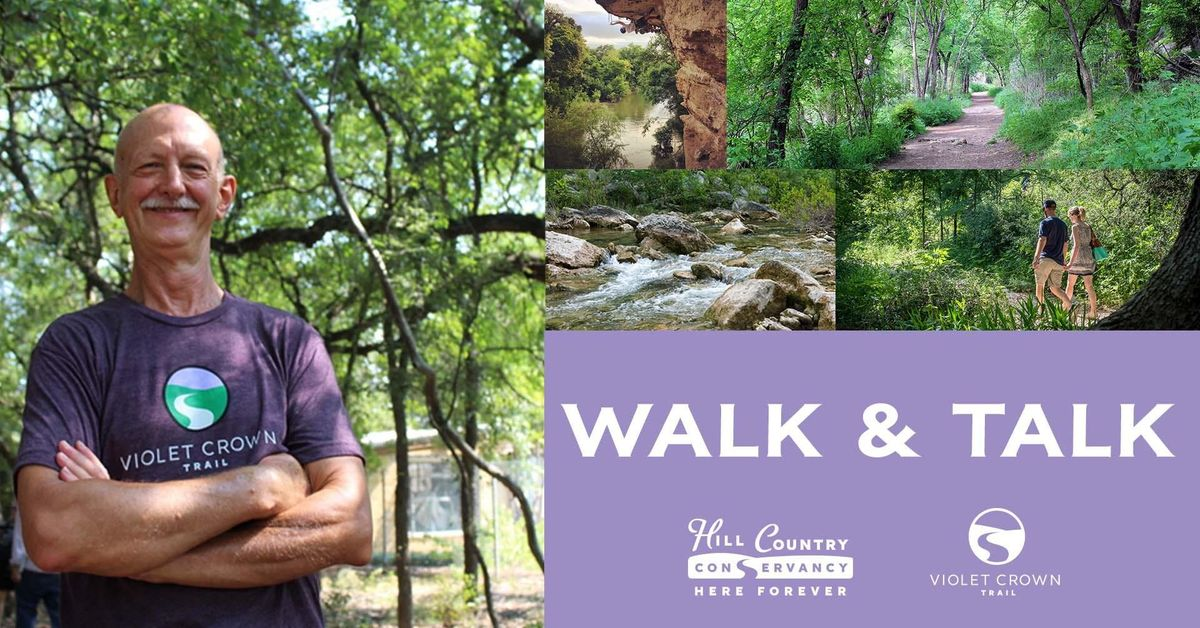 May 17 HCC Walk & Talk at Slaughter Lane Trailhead
