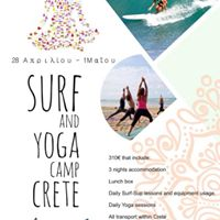 Surf and Yoga camp Crete