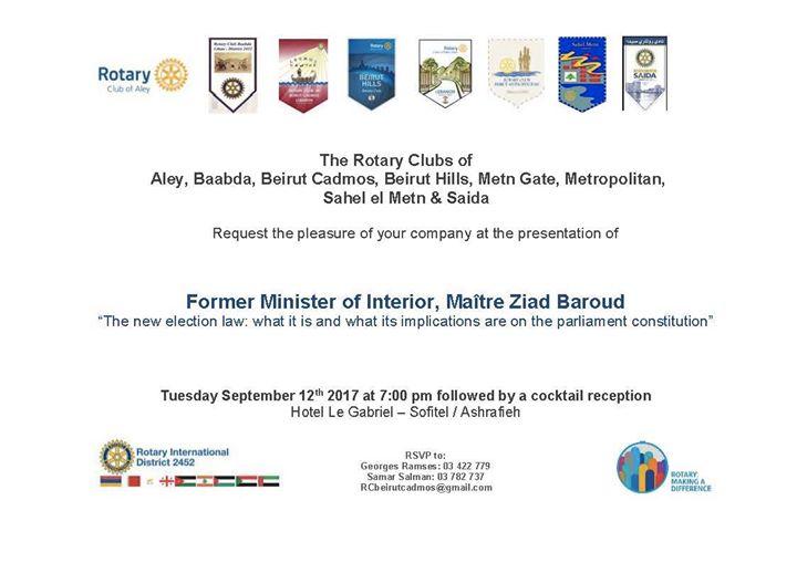 Speaker Maitre ZIAD Baroud