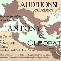Auditions - Antony &amp Cleopatra