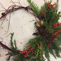 DIY Workshop Fresh Greens Holiday Wreath w Tina Riddell