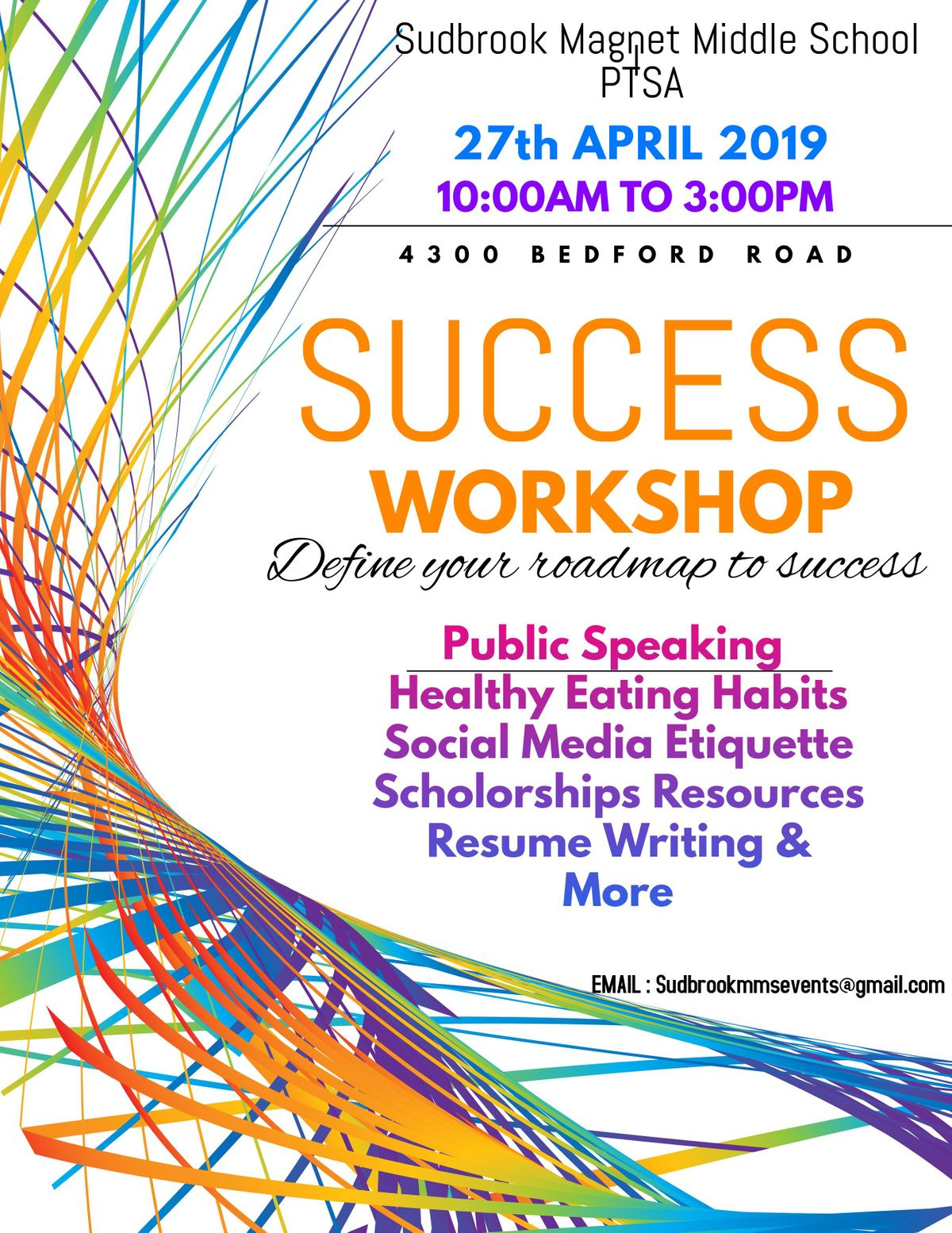 Free Workshop April 27th Speak For >> Success Workshop The Game Of Life Free Event At 4300 Bedford Rd