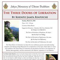 Three Doors of Liberation by Khenpo Jampa Rinpoche