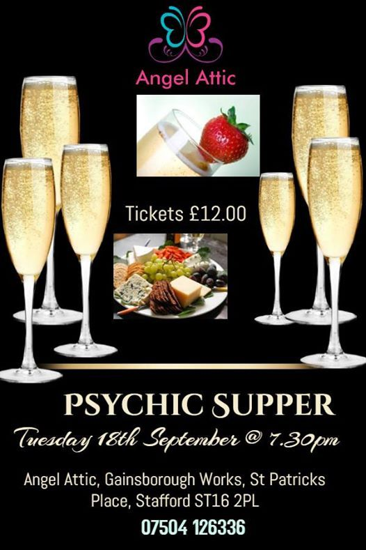 Psychic Supper at Angel Attic on Tuesday 18th September