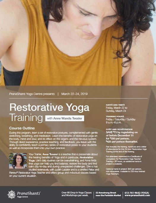 Restorative Yoga Training with Anne Wanda Tessier