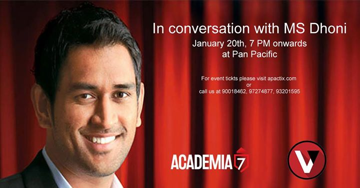 Meet Dine and Listen to Cool MS Dhoni