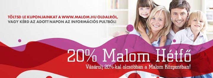 787dda6096 20 %-os Malom Hétfő at Malom Központ, Kecskemét