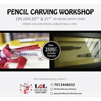 Pencil Carving Workshop