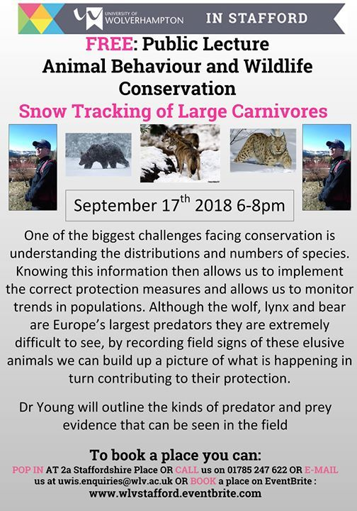 Public Lecture - Dr Young Snow Tracking of the Wolf Bear and Lynx