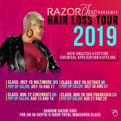 Razor Chic Cincinnati Hair Loss Tour 2019