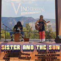 Sister and the Sun at Vino Di Sedona