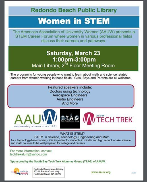 STEM Career Forum at Redondo Beach Public Library, Redondo Beach
