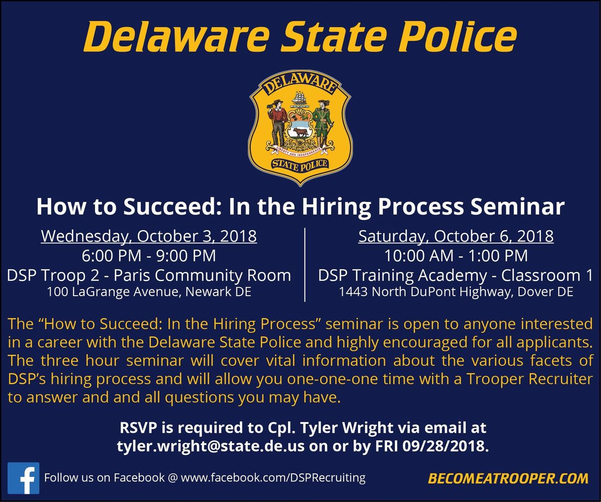 DE State Police - How to Succeed: In the Hiring Process | Dover