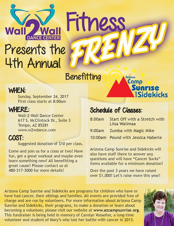 4th Annual Fitness Frenzy benefiting AZ Camp Sunrise & Sidekicks