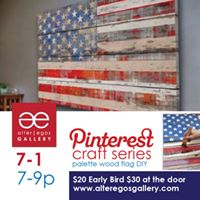 Pinterest Party DIY Wood Flags