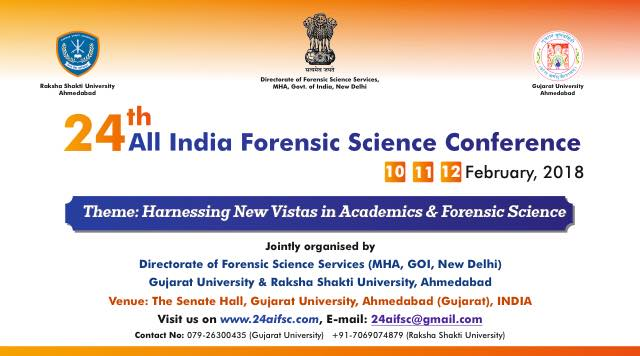 24th All India Forensic Science Conference At Gujarat University Ahmedabad