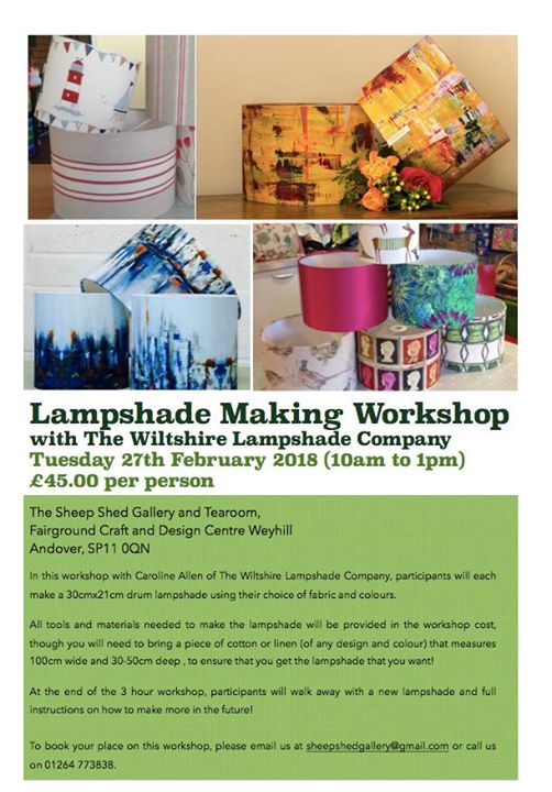 Lampshade Workshop with The Wiltshire Lampshade Company