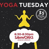 Tuesday 5 Outdoor Yoga Night at Saw Works