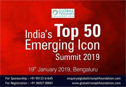 Indias Top 50 Emerging Icon Summit - 2019
