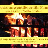 Wintersonnwendfeier fr Familien am 21.12. in Wilhelmsfeld