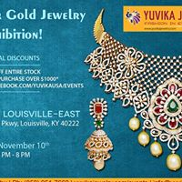 Louisville KY - Yuvika Diamond &amp Gold Jewelry Exhibition