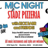 MIC Night at Stadz Pizzeria with Rick Barr