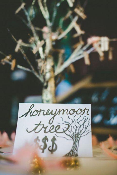 chad and amandas money tree wedding shower