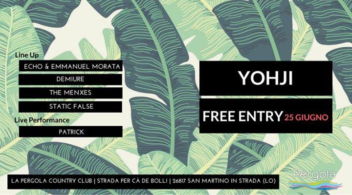 3SOME Free PARTY // YOHJI (Pergola Country Club - Lodi) | San ...