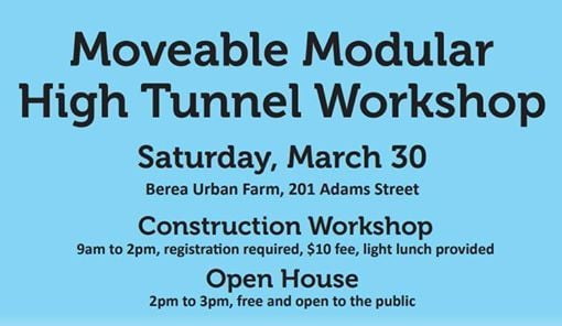 Moveable Modular High Tunnel Workshop