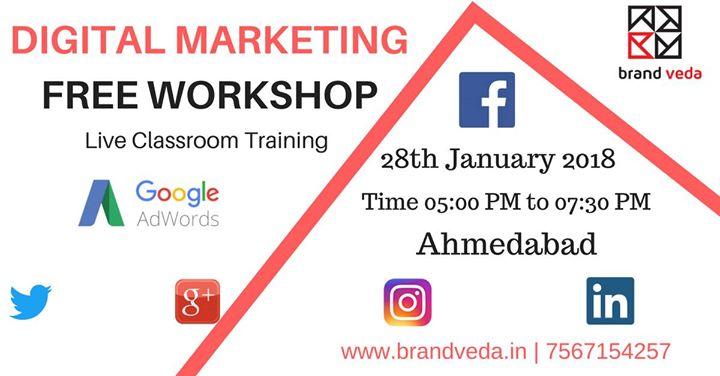 Free workshop on Digital Marketing in Ahmedabad