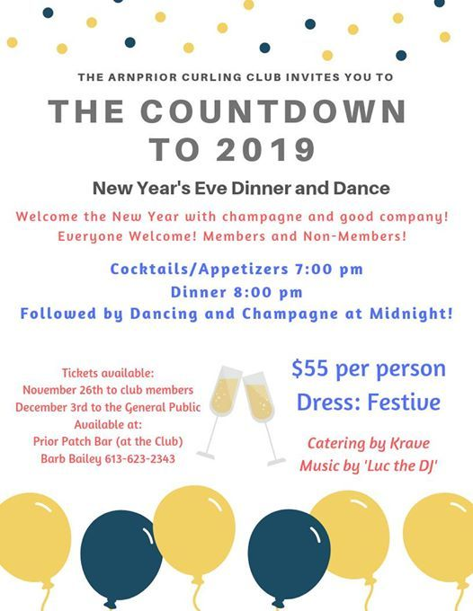 New Years Eve Dinner and Dance