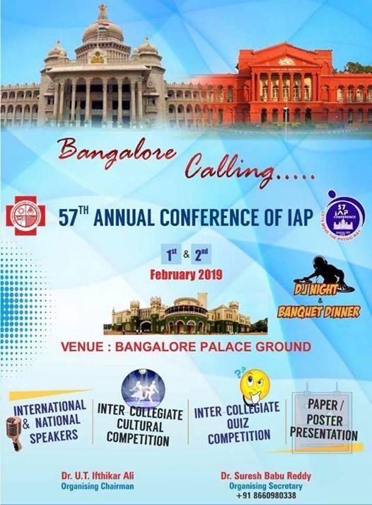 57 th Annual Conference IAP at Palace Grounds BangalorePalace