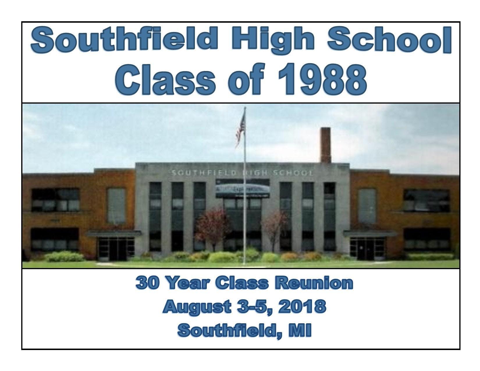 Southfield High School Class of 88 30yr Reunion