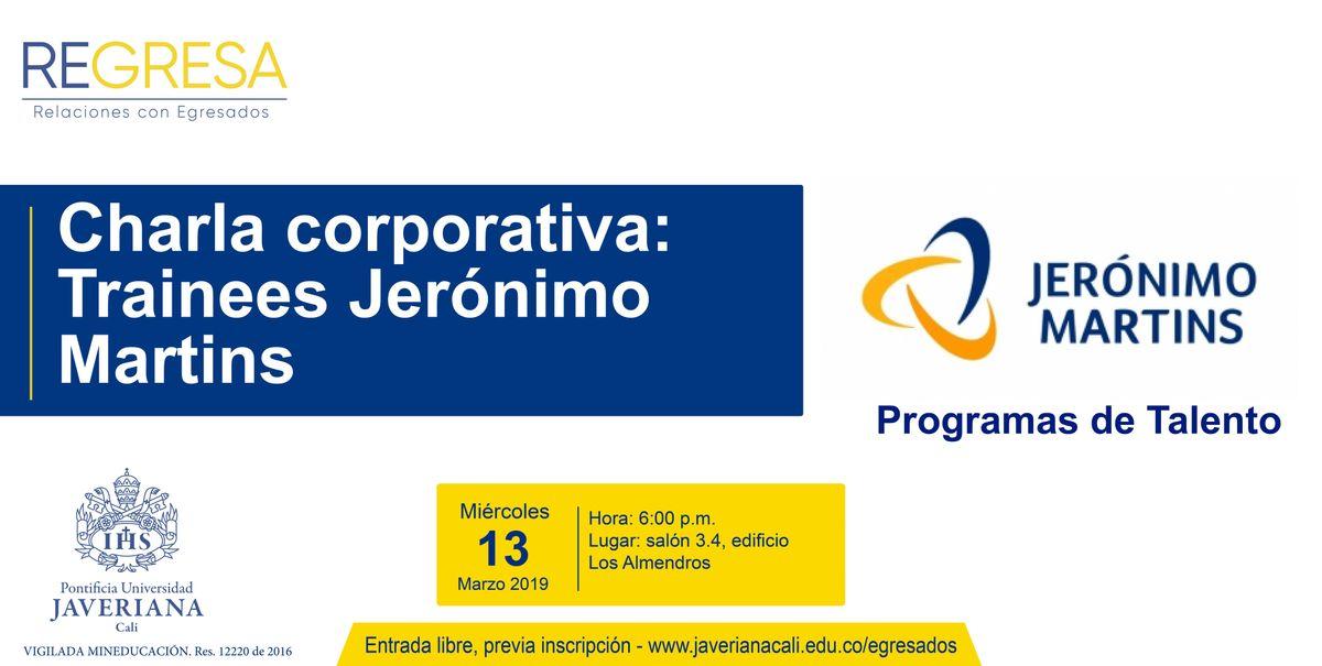 Charla corporativa Trainee Jernimo Martins Colombia