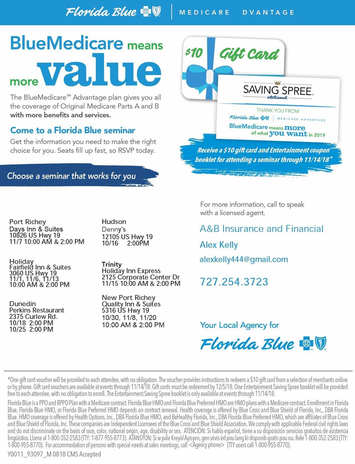 Florida Blue Medicare >> Florida Blue Medicare Seminar At Holiday Inn Express