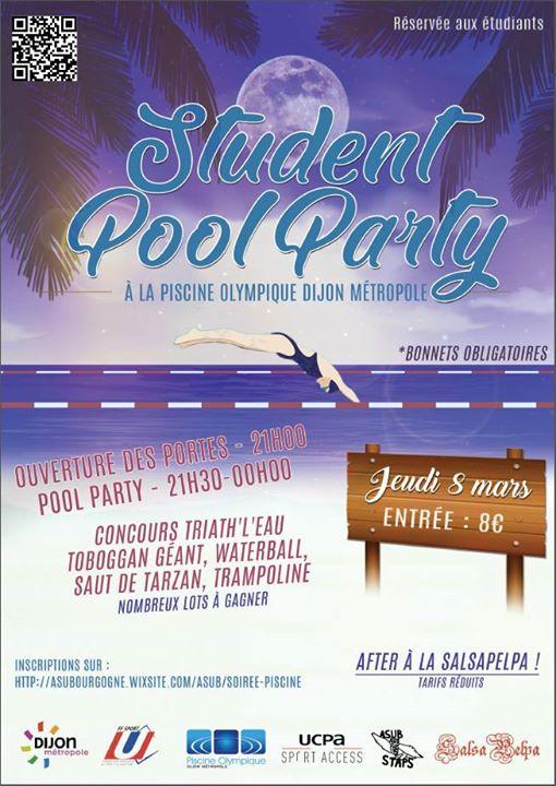 Student Pool Party At Piscine Olympique Dijon Metropole Dijon