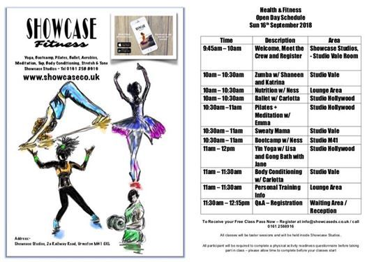 Showcase Health & Fitness Open Day