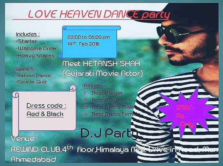 Valentines Day Love Heaven Party With Hetansh Shah