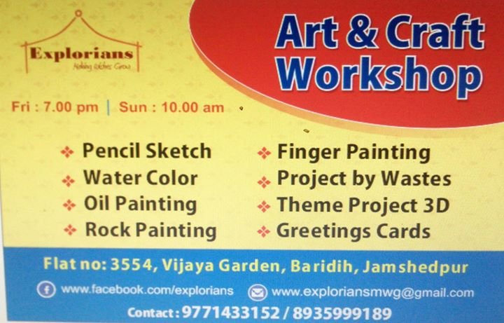 art craft classes at vijaya gardens baridih jamshedpur