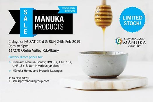 NZ Manuka Group - Factory Sale - Auckland