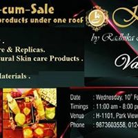 Kidars Exhibition- Cum -sale of Jewellery Furniture Organic skincare products &amp more